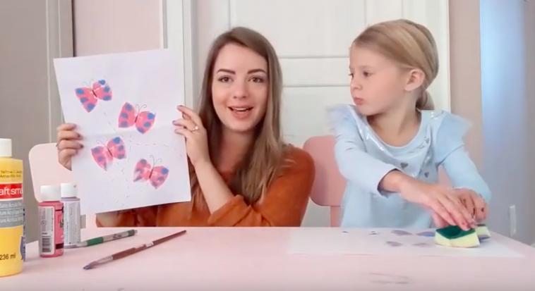 MiaThrives Kaleidoscope Kids Butterfly Stamp Tutorial